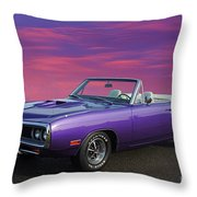 Dodge Rt Purple Sunset Throw Pillow
