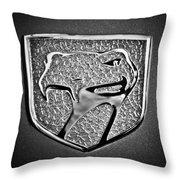 Dodge Viper Emblem -217bw Throw Pillow