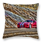 Dodge Viper  V1 Throw Pillow