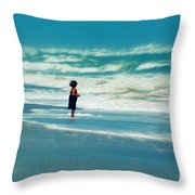 Does The Ocean Ever Stops Throw Pillow
