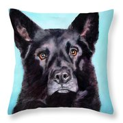 Does This Include Me Black Dog Throw Pillow