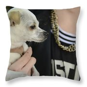 Dog And True Friendship 1 Throw Pillow