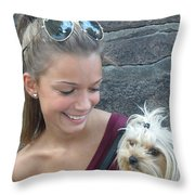 Dog And True Friendship 4 Throw Pillow