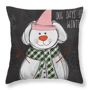 Dog Days  Throw Pillow by Linda Woods