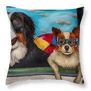 Dog Days Of Summer Edit 3 Throw Pillow