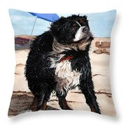 Dog Days Of Summer Throw Pillow