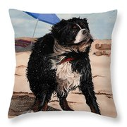 Dog Days Of Summer V2 Throw Pillow