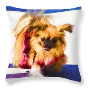 Dog Daze 3 Throw Pillow