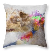 Dog Daze 5 Throw Pillow