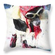 Dog Daze 8 Throw Pillow