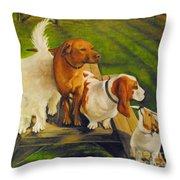 Dog Friends Throw Pillow