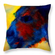 Vincent The Dog Gogh Throw Pillow