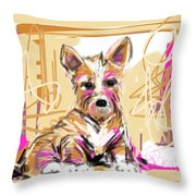 dog I did not make this mess Throw Pillow