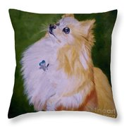 Dog Kuki Throw Pillow