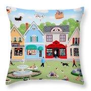 Dog Lovers' Lane Throw Pillow