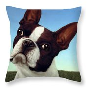 Dog-nature 4 Throw Pillow by James W Johnson