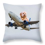 Dog Pilot Throw Pillow
