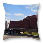 Dog River Truck Throw Pillow
