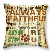 Dog Rules Throw Pillow