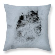 Dog Was Here Throw Pillow