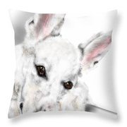 Dog With Bone Throw Pillow