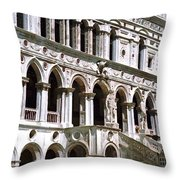 Doge Palace Venice 2 Throw Pillow