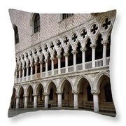 Doge's Palace And Basilica San Marco Throw Pillow