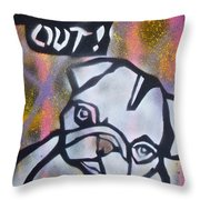 Dogged Out 2 Throw Pillow