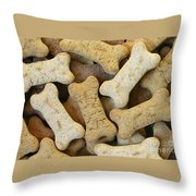 Doggie Feast Throw Pillow