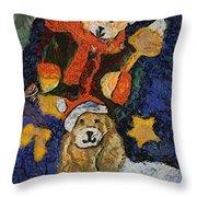Doggie Xmas Stocking 03 Photo Art Throw Pillow