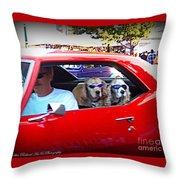 Doggies In The Window Throw Pillow
