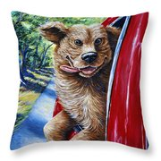 Dog...gone Happy Throw Pillow