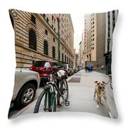 Dogs 1 Throw Pillow
