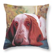Dog's Portrait No 1 Throw Pillow