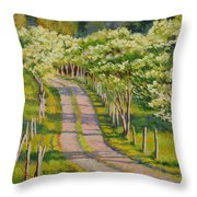 Dogwood Allee Throw Pillow