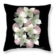 Dogwood And Poppies Throw Pillow