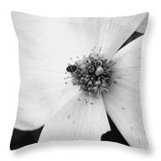Dogwood Black And White 2 Throw Pillow