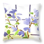 Dogwood In The Window Throw Pillow