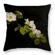 Dogwood On The River Throw Pillow