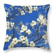Dogwood Trees Throw Pillow