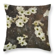 Dogwood Winter Throw Pillow