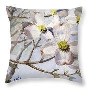 Dogwoods In Carolina Throw Pillow