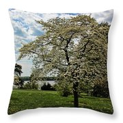 Dogwoods In Summer Throw Pillow