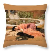 Dolce Far Niente Or Sweet Nothings 1904 Throw Pillow