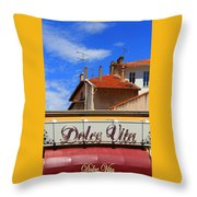 Dolce Vita Cafe In Saint-raphael France Throw Pillow