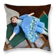 Doll And Camp Chairs 1800s Throw Pillow