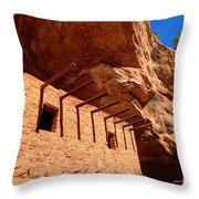Doll House Anasazi Ruin Throw Pillow
