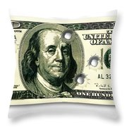 Dollar Drive By Throw Pillow