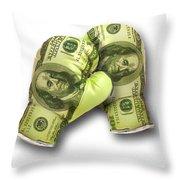 Dollar Gloves-2 Throw Pillow