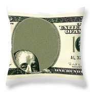 Dollar Peek A Boo Throw Pillow